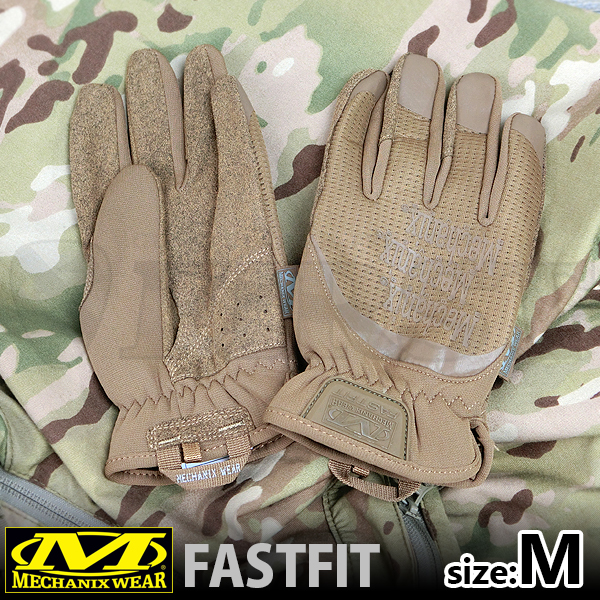 FFTAB-72-009 メカニックスグローブ FASTFIT GLOVE コヨーテ Mサイズ