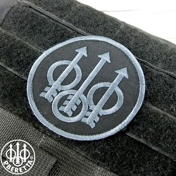 【Beretta】BERETTA Trident Velcro Patch Black