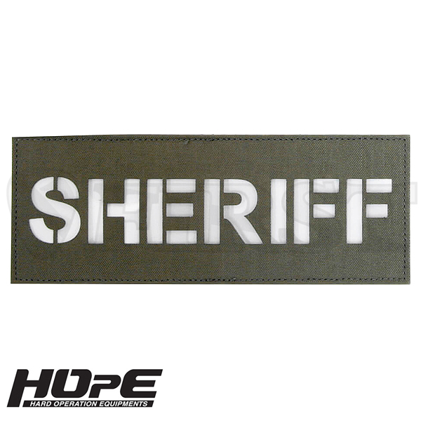HOpE パッチ 3x8-SHERIFF RG/ WH【1〜3営業日以内に発送】