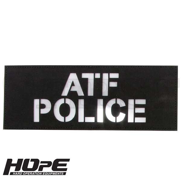 HOpE パッチ 3x8-ATFPOLICE BK/ WH【1〜3営業日以内に発送】