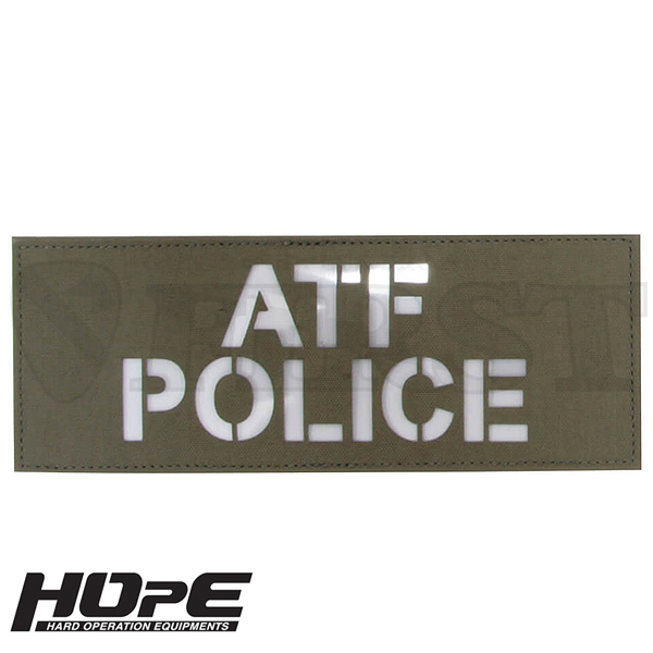 HOpE パッチ 3x8-ATFPOLICE RG/ WH【1〜3営業日以内に発送】