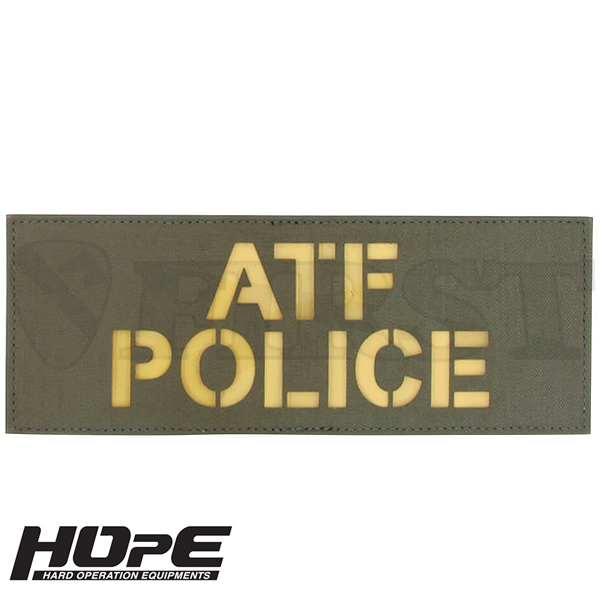 HOpE パッチ 3x8-ATFPOLICE RG/ YL【1〜3営業日以内に発送】