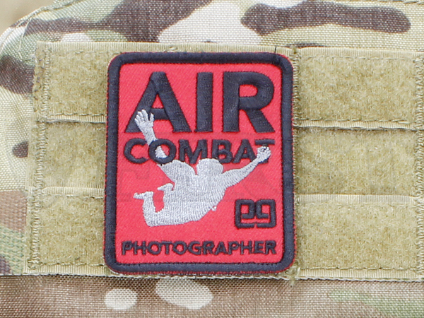 「AIR COMBAT PHOTOGRAPHER」パッチ アーバンレッド【1~3営業日以内に発送】