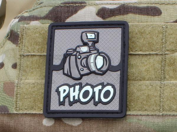 「PHOTO」PVCパッチ【1〜3営業日以内に発送】