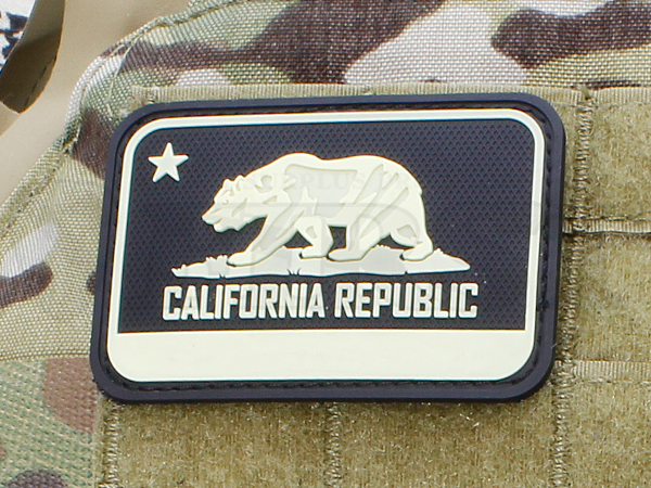 パッチ 「California Bear Flag」 蓄光