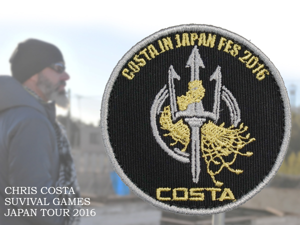 COSTA IN JAPAN 2016ツアー 記念グッズ 刺繍パッチ