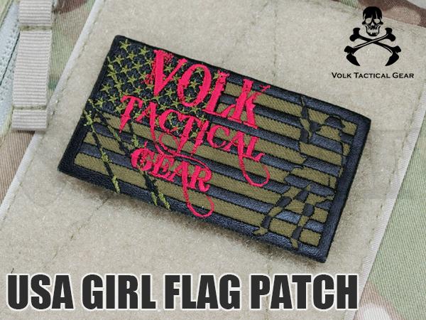 VOLK USA GIRL フラッグパッチ OD GREEN