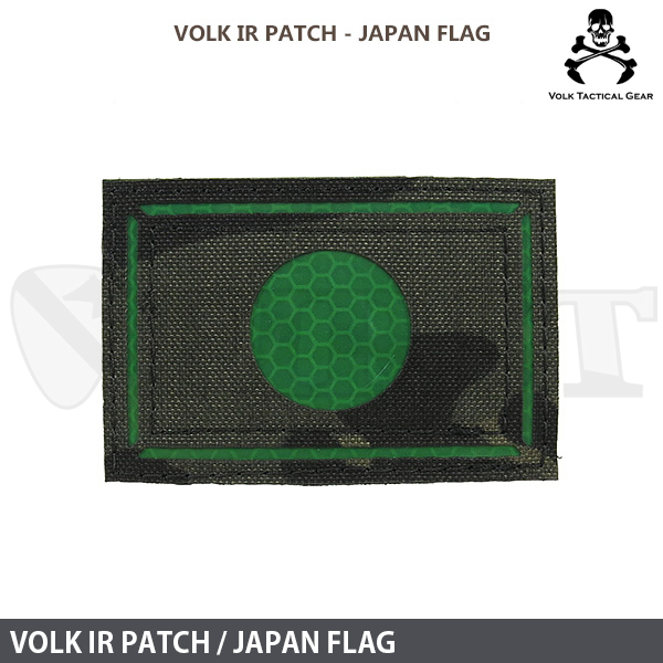 VOLK IR PATCH /  JAPAN FLAG MULTICAM BLACK