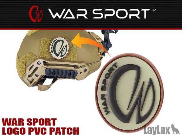 WAR SPORT W ロゴ PVCパッチ/ワッペン