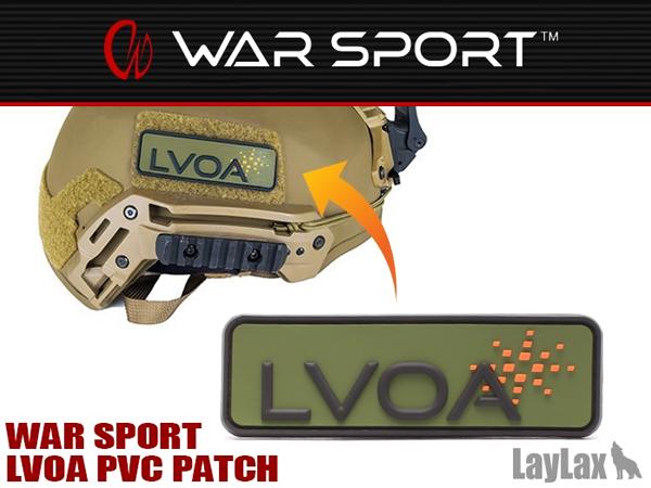 WAR SPORT LVOA PVCパッチ/ワッペン
