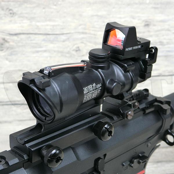 ACOGタイプ TA31 4X32 スコープ レッド集光ファイバー W/RM ドットサイト付き