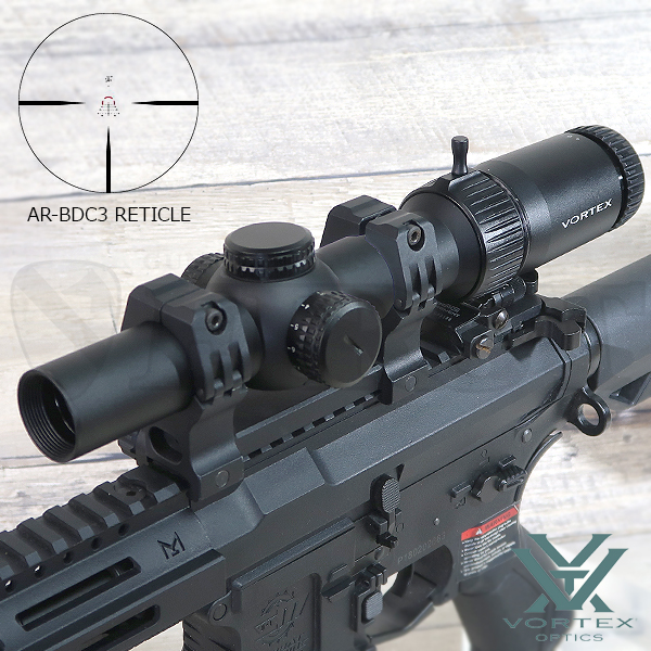 【VORTEX】Strike Eagle 1-6x24 AR-BDC3(MOA)