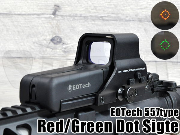 ��SUPER SALE��EOTech 557������ �ɥåȥ����� RED / GREEN