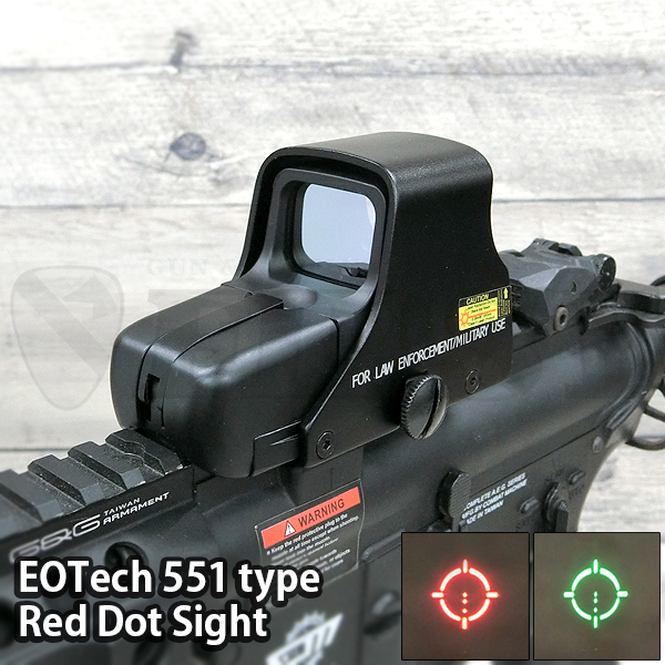 EOTech 551 ホロサイトタイプ レッド/グリーンドットサイト BK (QDレバー/レンズカバー付)