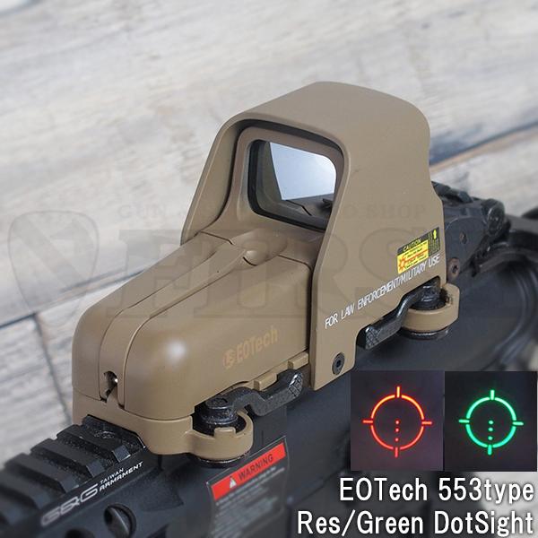 EOTech 553タイプ ドットサイト TAN QDマウント仕様 (RED/GREEN)