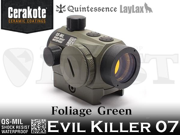 クインテスセンスMIL ダットサイト「Evil Killer 07」 セラコート仕様 フォリッジグリーン