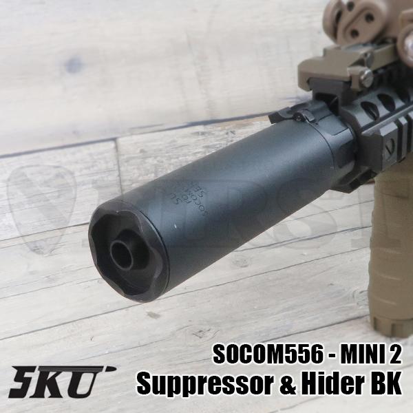 5KU-243-BK-SP 5KU トレーサー内蔵 SF SOCOM556-MINI2タイプ サプレッサー&ハイダー (14mm逆ネジ) BK