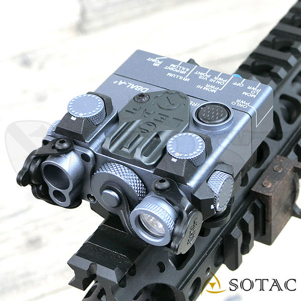 SOTAC GEAR製 DBAL-A2 (AN/PEQ-15Aタイプ) LEDライト GRY