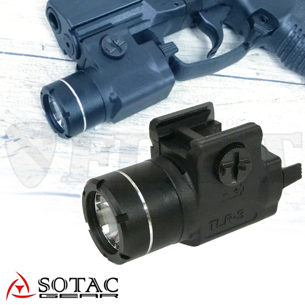 SOTAC TLR-3 タイプ コンパクト ウエポンライト BK
