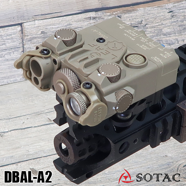 SOTAC GEAR製 ナイロン製 DBAL-A2(AN/PEQ-15Aタイプ) LEDライト DE
