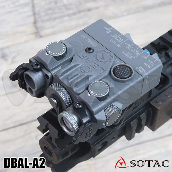 SOTAC GEAR製 ナイロン製 DBAL-A2(AN/PEQ-15Aタイプ) LEDライト GY