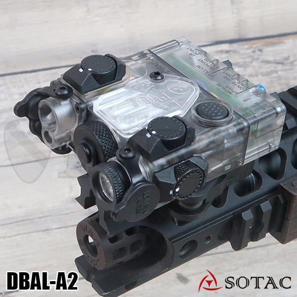 SOTAC GEAR製 ナイロン製 DBAL-A2(AN/PEQ-15Aタイプ) LEDライト スケルトン