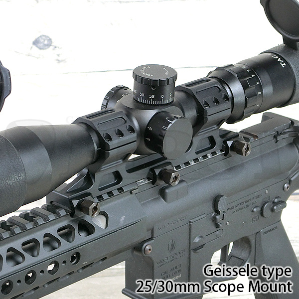 AO 9011-BK Geisseleタイプ 25/30mm径 スコープマウント ロングVer. BK