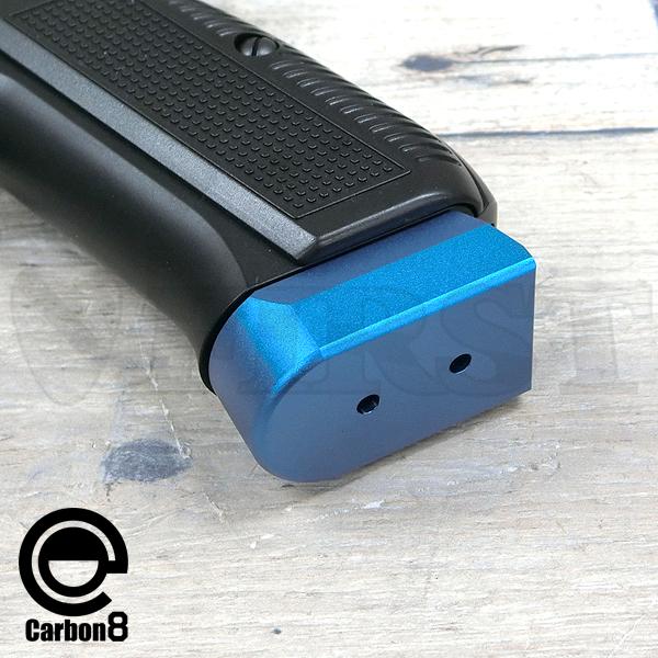 【アウトレット特価】CARBON8(カーボネイト)製 Cz75 CO2 ブローバック専用 マグバンパー BLUE