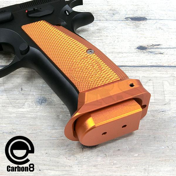 【アウトレット特価】CARBON8(カーボネイト)製 Cz75 CO2 ブローバック専用 マグウェル&ショートグリップパネル GOLD