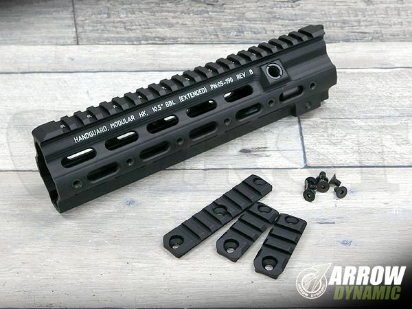 マルイHK416対応 ガイズリースタイル SMR レイルハンドガード 10.5インチ BK