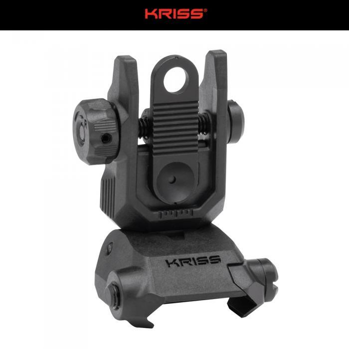 KRISS Steel Low Profile リア フリップサイト BK