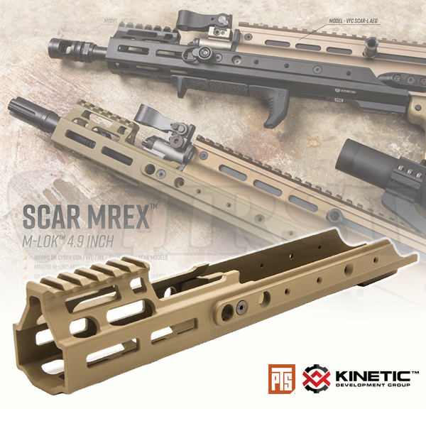PTS Kinetic SCAR MREX M-Lok 4.9in レイルハンドガード DE