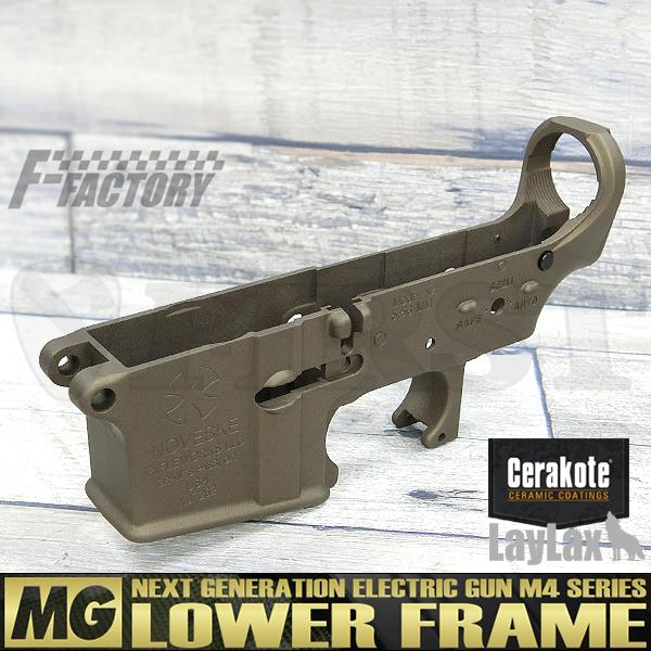 【限定】次世代 M4シリーズ用 MG ロアフレーム セラコート NOVESKE type バーントブロンズ