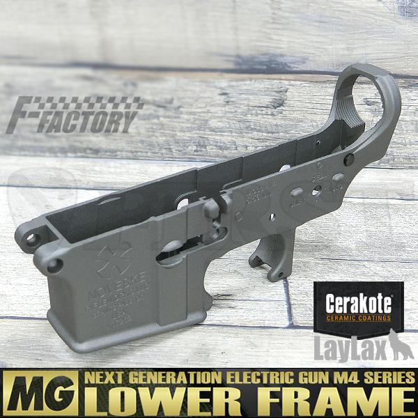 【限定】次世代 M4シリーズ用 MG ロアフレーム セラコート NOVESKE type ステンレス