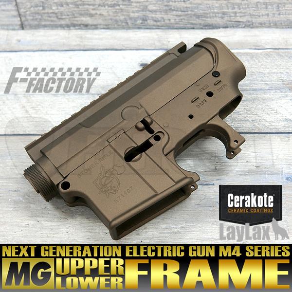 【限定】次世代 M4シリーズ用 MGアッパー+MGロアフレームセット セラコートVer. KNIGHT'S/バーントブロンズ