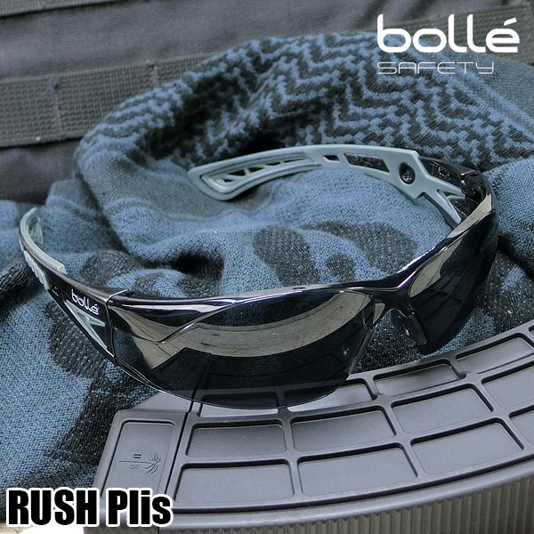 RUSH Plus(ラッシュプラス) セーフティグラス スモーク/BLack×WolfGray