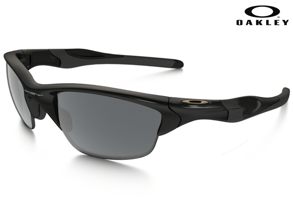 OO9153-04 (A)HALF JACKET 2.0 POLISHED BLACK w / BLACK IRIDIUM POLARIZED