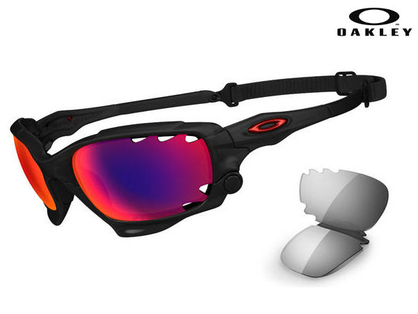 OO9197-07 Polarized Racing Jacket (ASIAN FIT) Matte Black Ink w / OO Red Iridium Polarized And Light Grey Vented