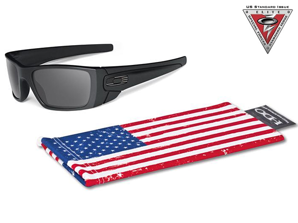 OO9096-29 SI Fuel Cell Matte Black w / Grey Tonal Flag