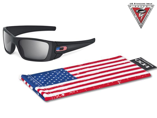 OO9096-38 SI Fuel Cell Matte Black and US Flag w / Grey
