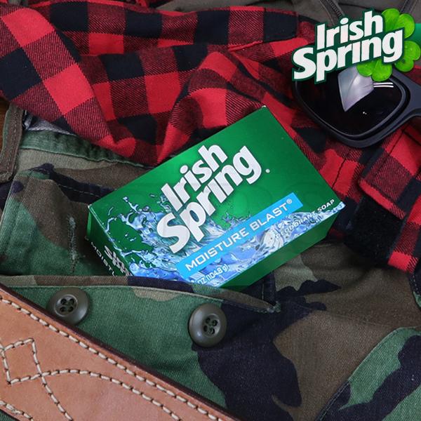 米軍放出品 Irish Spring モイスチャーブラスト デオドラントソープ 104g 1個